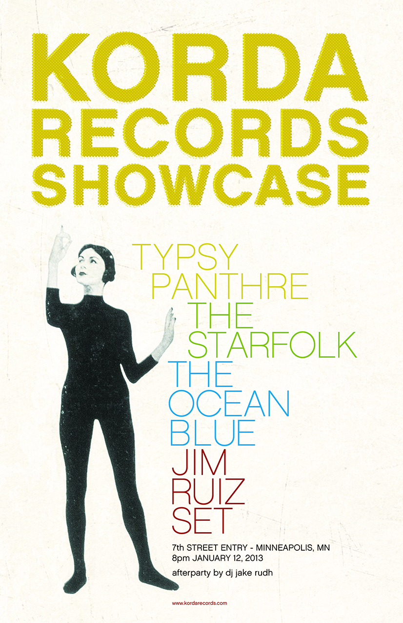 Korda Records Showcase Sat. Jan. 12, 7th St Entry, 8pm